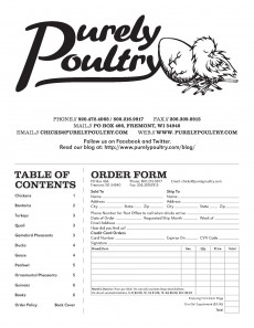 Purely Poultry Catalog