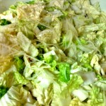 Chinese Napa Cabbage Salad with Turkey