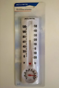 8-Inch Thermometer With Humidity