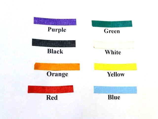Color map for sexing tape